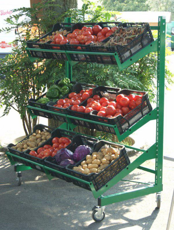 vegetable racks for supermarket
