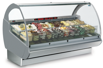 Halogen-Dazs and more Grocery Store Use Ice Display Case
